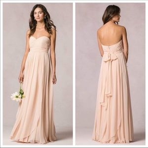 Jenny Yoo Mira Blush Bridesmaids Dress Size 0 EUC